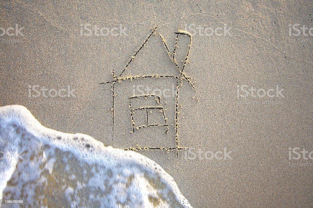 House & Wave stock photo