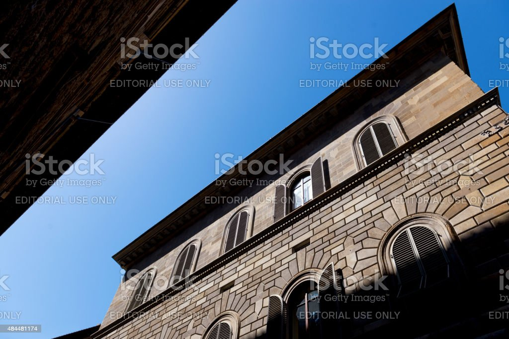 House where Da Vinci started painting 'Mona Lisa' in Florence stock photo