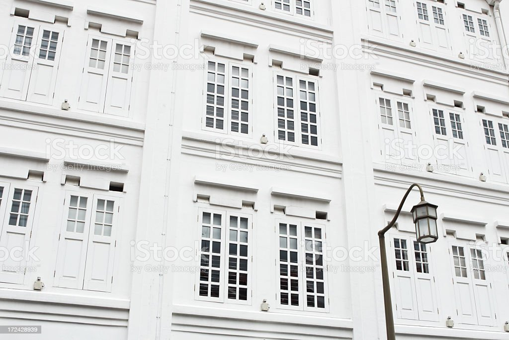 House windows in Singapore royalty-free stock photo