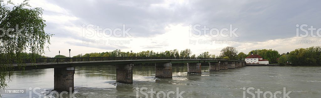 house with bridge panorama royalty-free stock photo