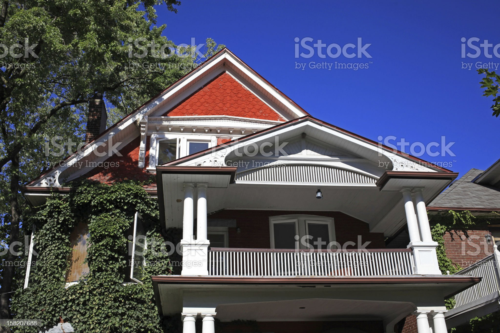 House with large gable royalty-free stock photo