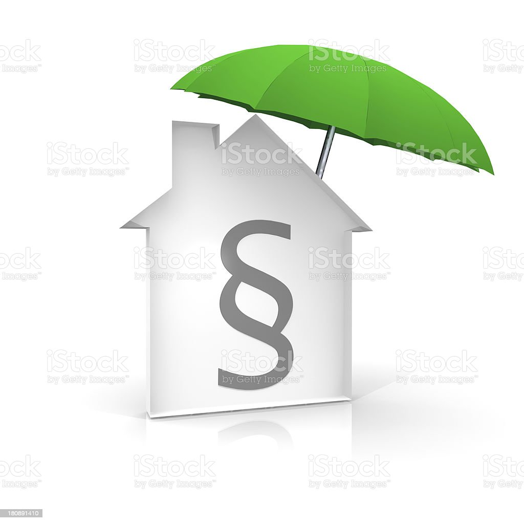 House with law symbol royalty-free stock photo