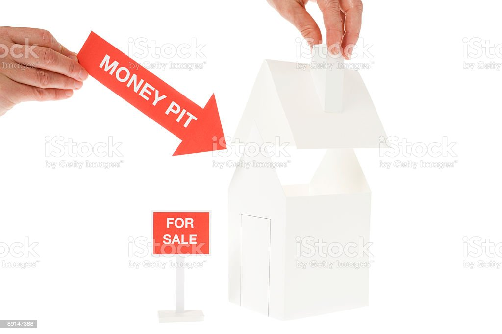 House with problems stock photo