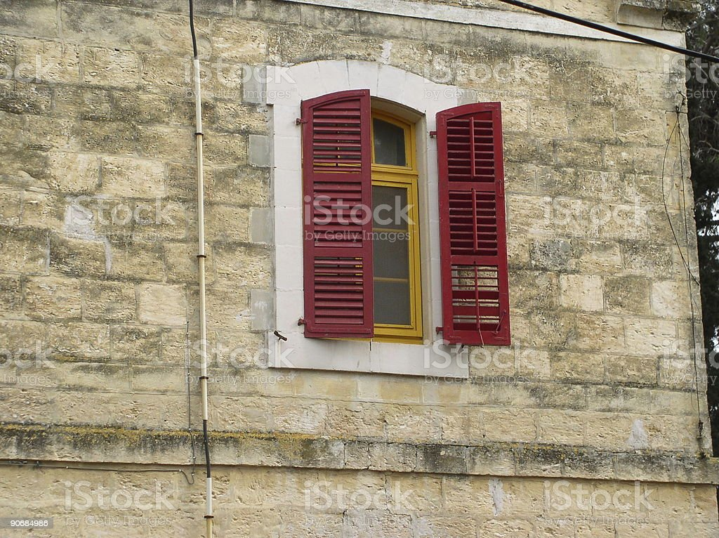 House with  Red Shutters stock photo