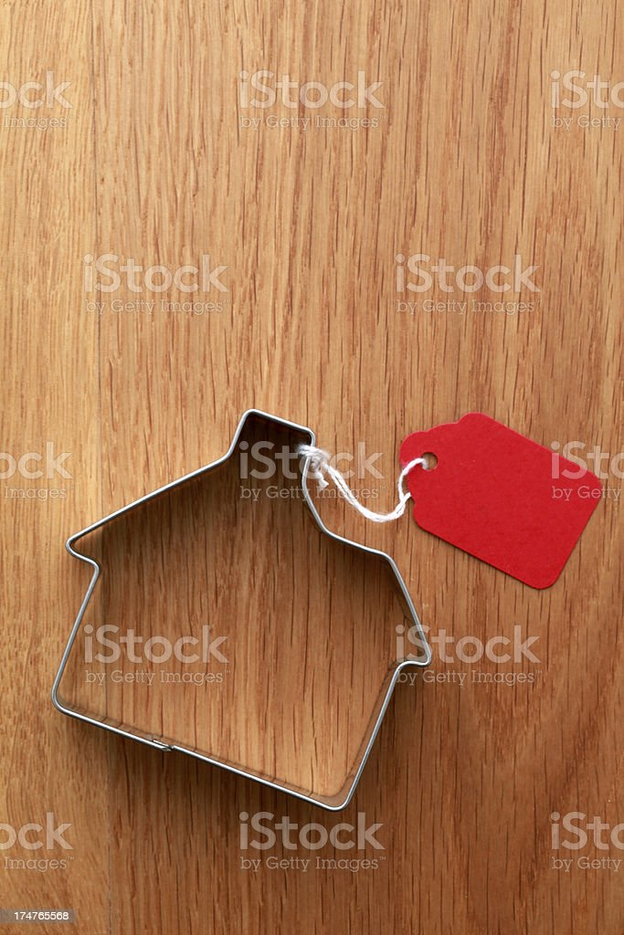 House with red tag royalty-free stock photo