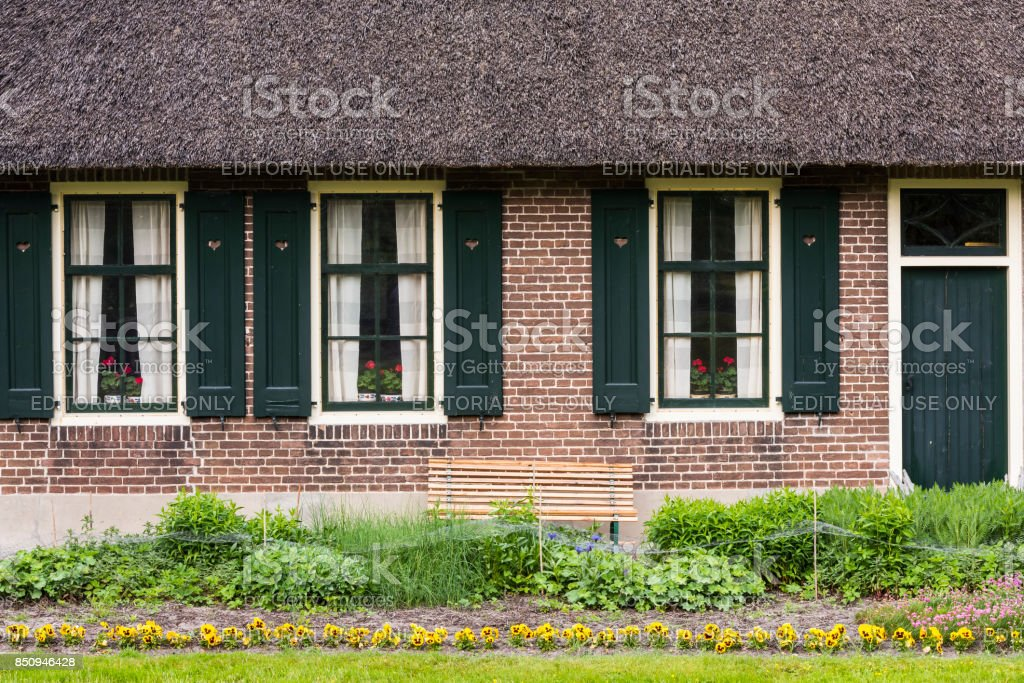 House with Shutters Giethoorn stock photo