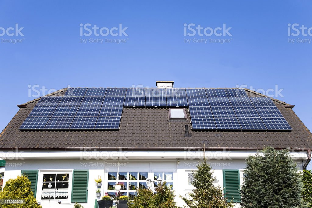 House with Solar Panel royalty-free stock photo