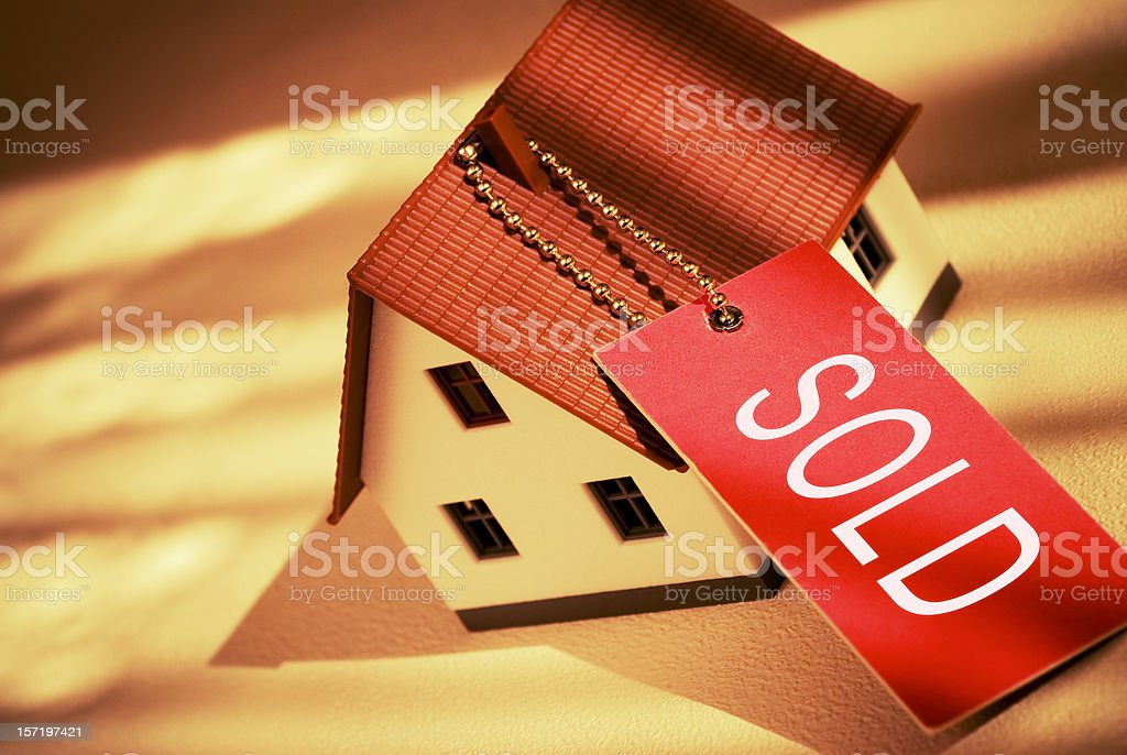 House With Sold Tag royalty-free stock photo