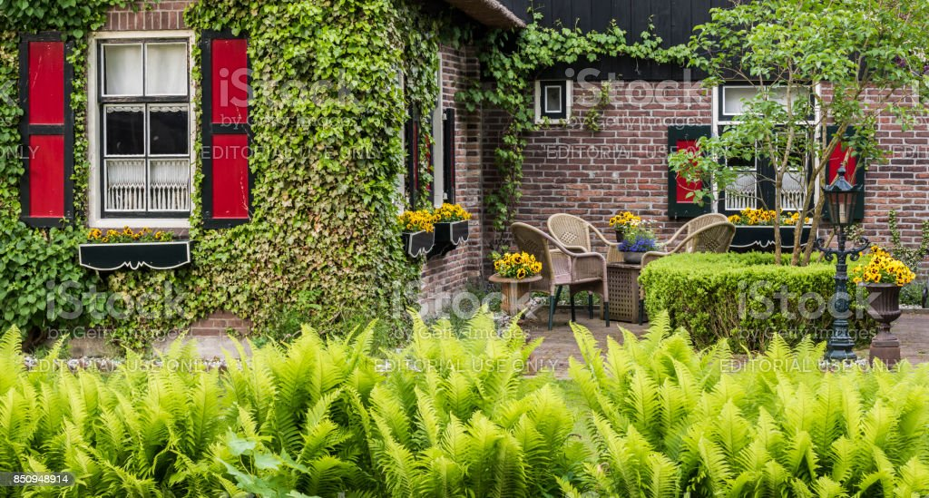 House with Terrace Giethoorn stock photo