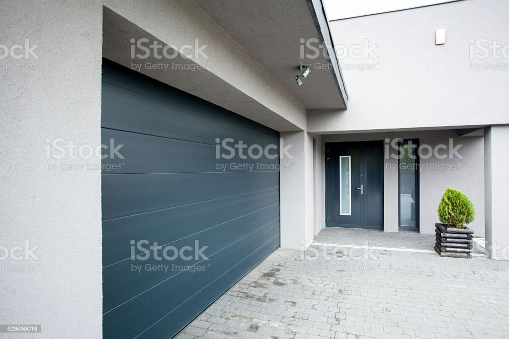 House with the garage stock photo