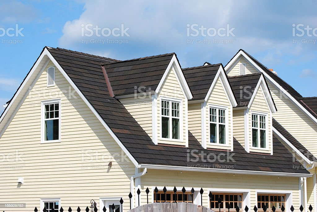 House with three dormers stock photo