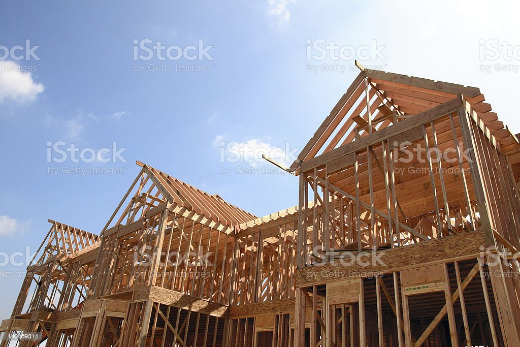 House Wooden Frame royalty-free stock photo