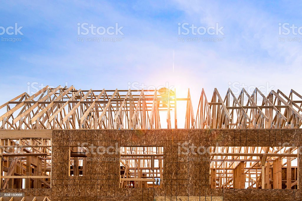 House Wooden Frame stock photo