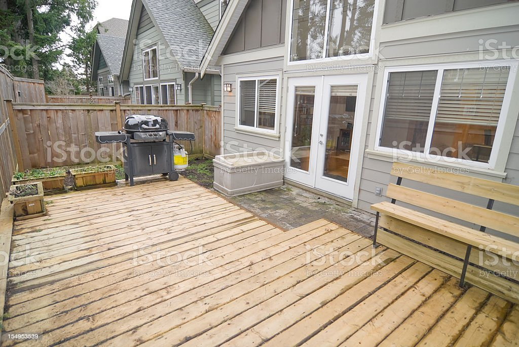 House Yard Deck stock photo