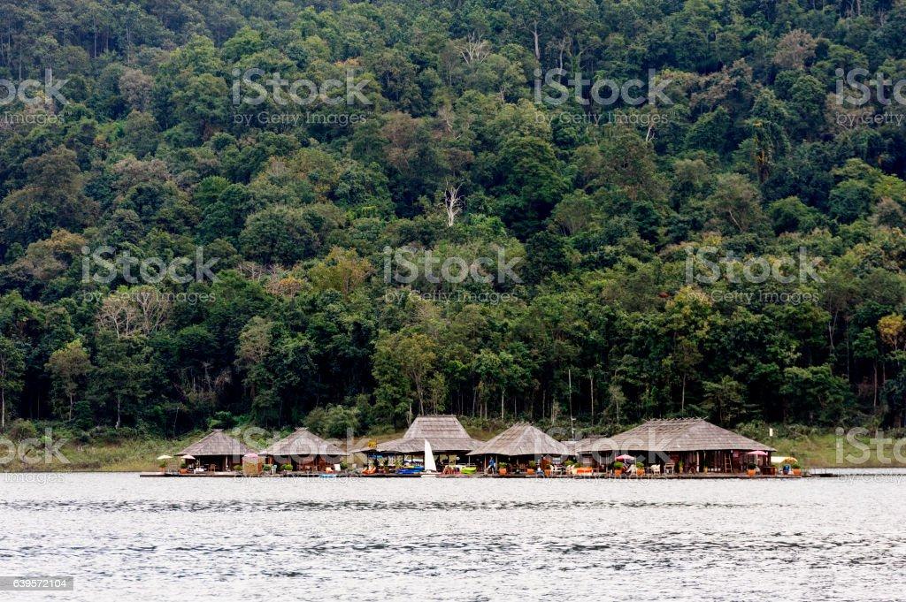 Houseboat Thailand style. stock photo