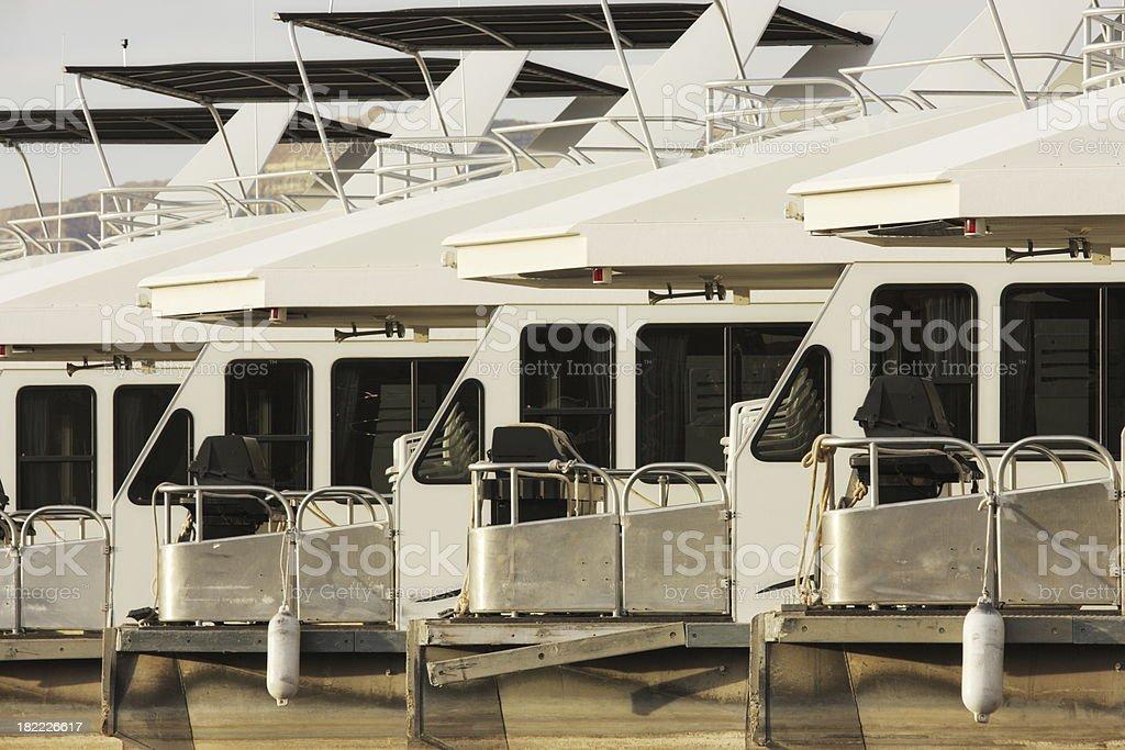 Houseboat Vacation Rental Recreation royalty-free stock photo