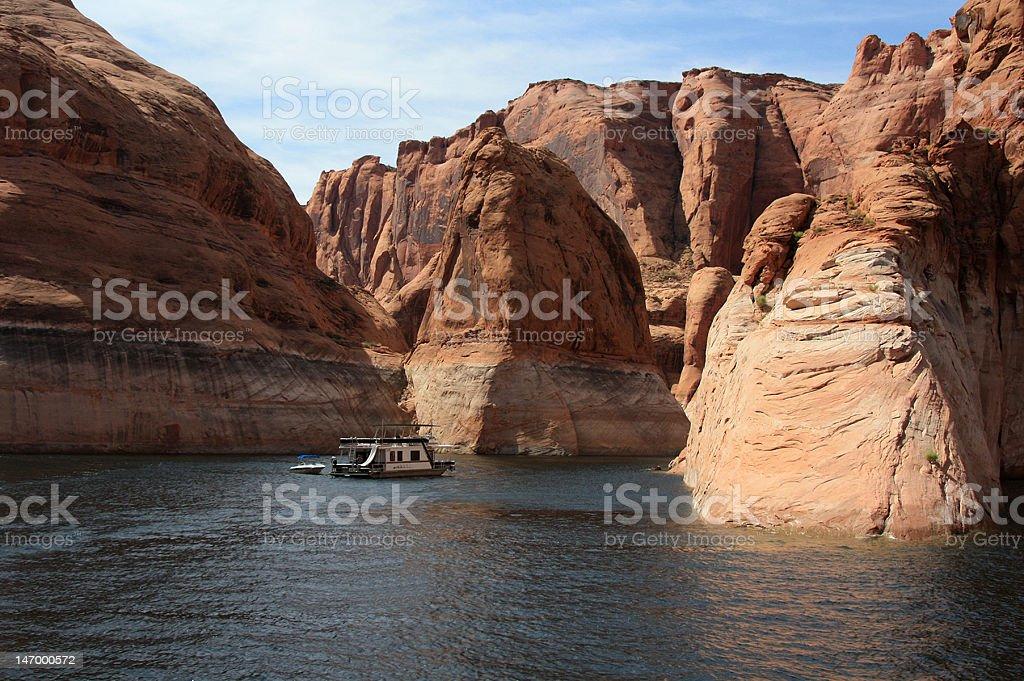 Houseboating Vacation stock photo