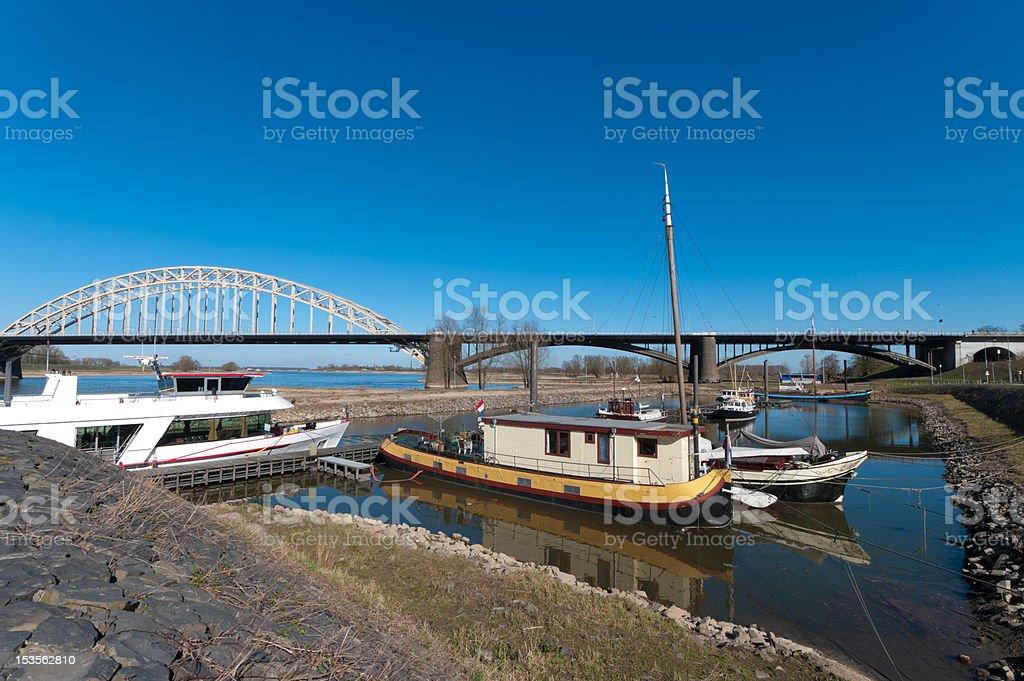 houseboats stock photo