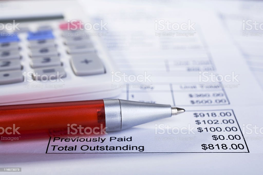 Household Accounts stock photo