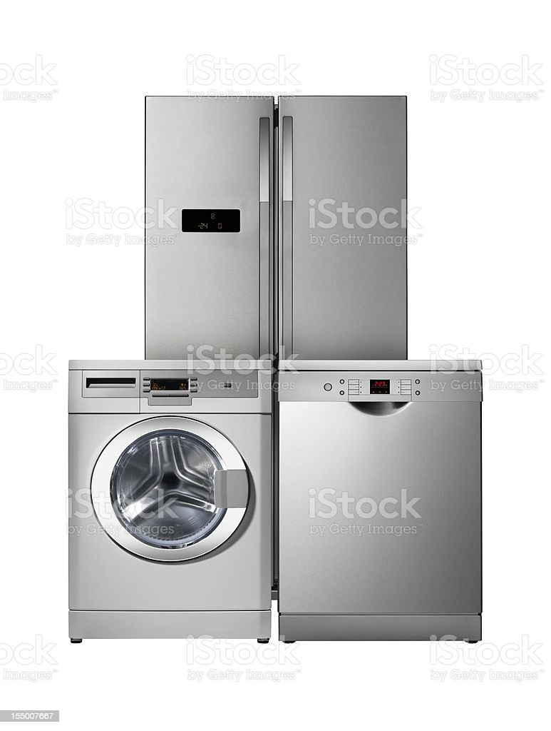 Household appliances, Kitchen vector art illustration