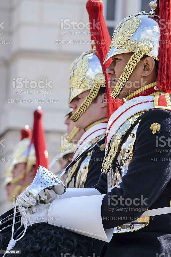 Household Cavalry at Horse Guards stock photo