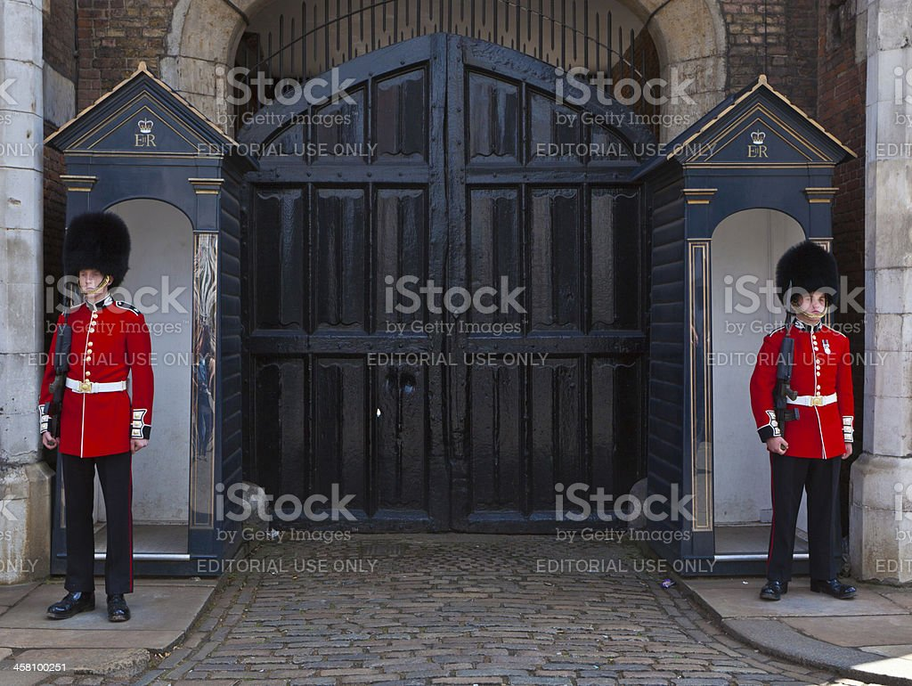 Household Cavalry, Whitehall, London. royalty-free stock photo