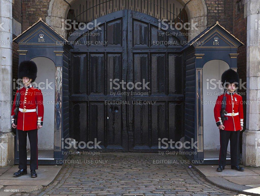 Household Cavalry, Whitehall, London. stock photo