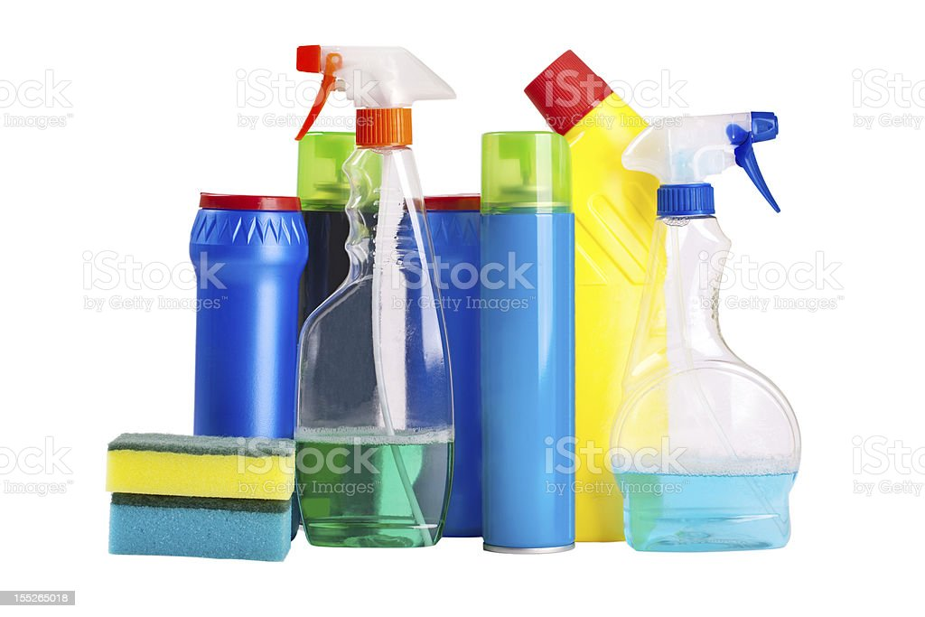 household chemicals royalty-free stock photo