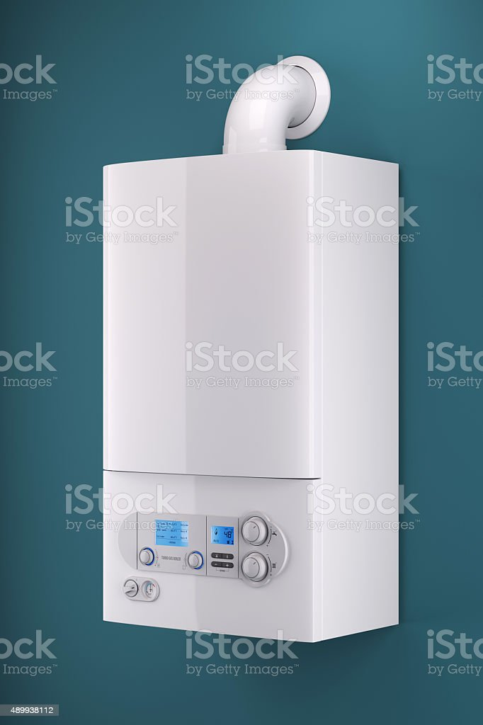 Household gas boiler stock photo