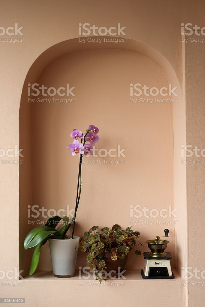 Household items in a niche stock photo