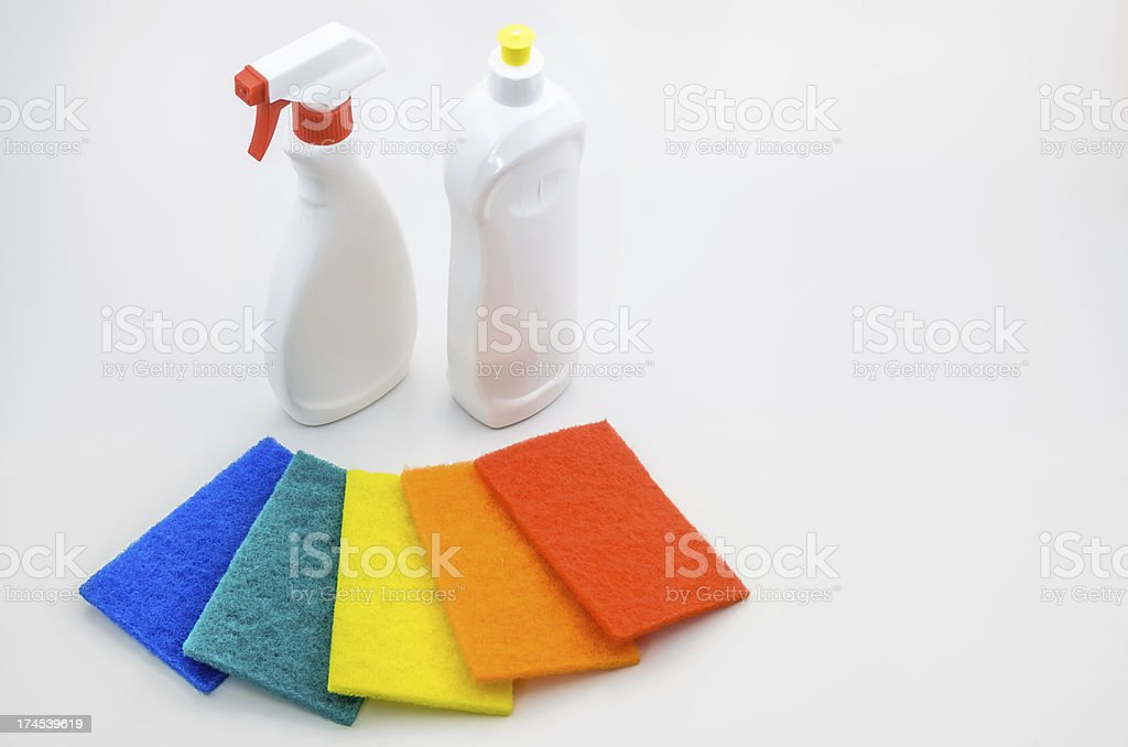 Household Scrub Set stock photo