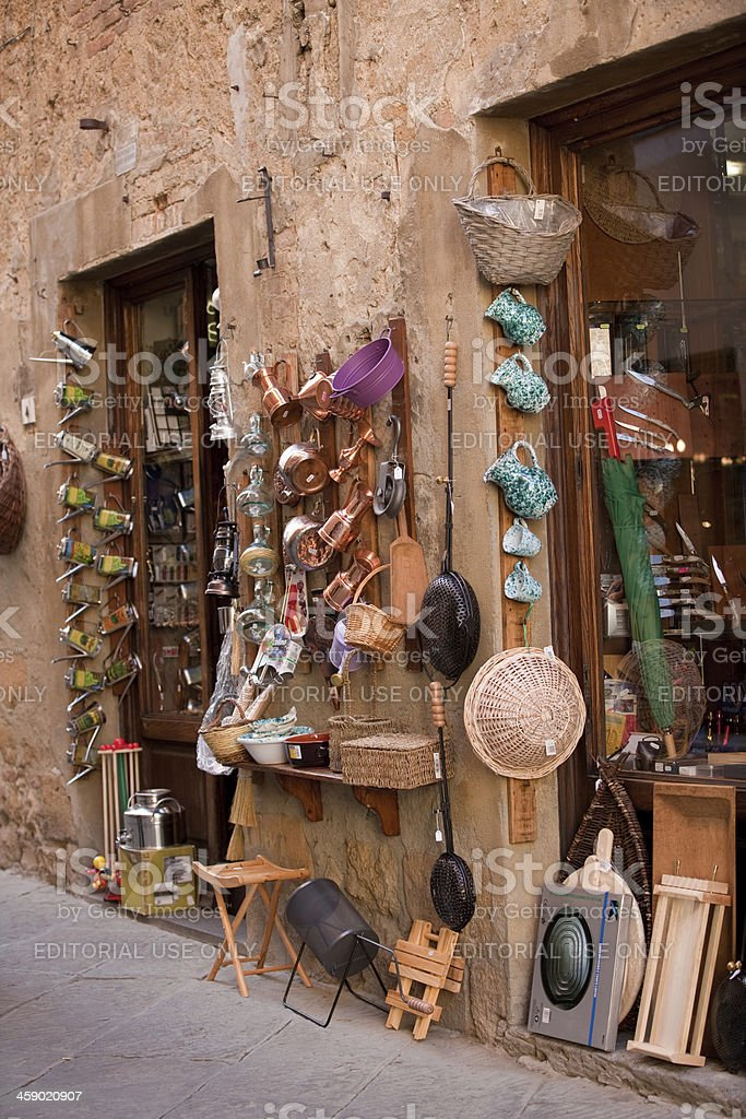 household supply shop in Pienza royalty-free stock photo