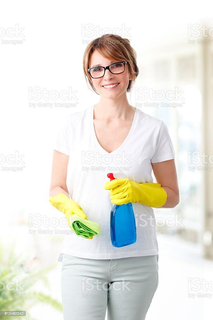 Housekeeper stock photo