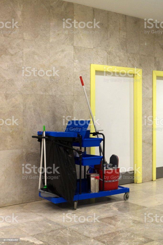 Housekeeping Cart - Stock Image stock photo