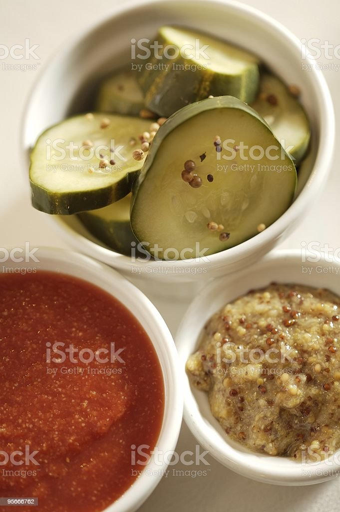 House-made condiments royalty-free stock photo