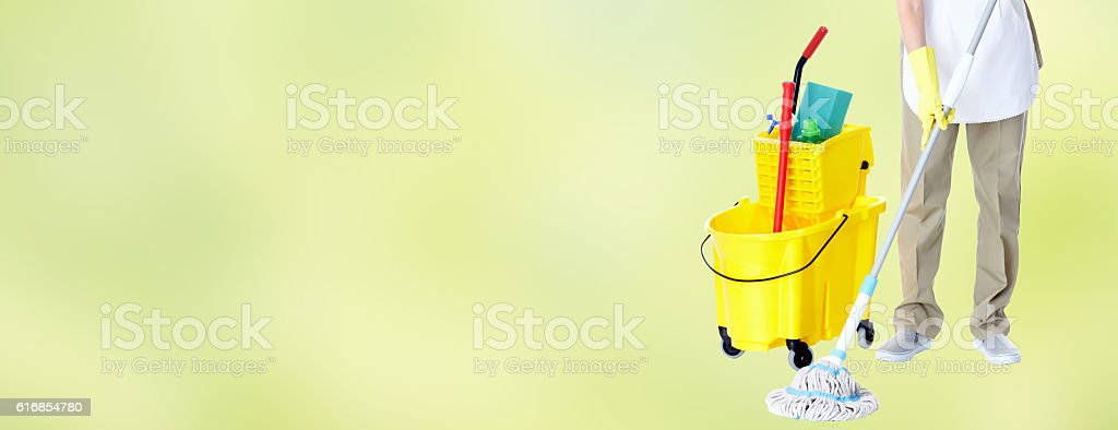 Housemaid. stock photo