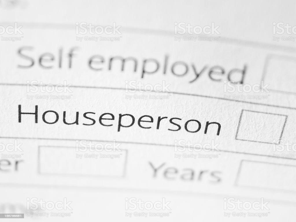 Houseperson royalty-free stock photo