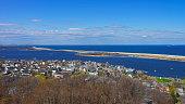 Houses and Atlantic Ocean at Sandy Hook