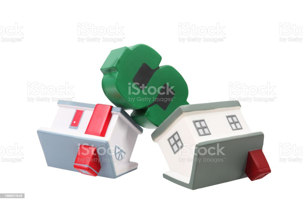 Houses and dollar royalty-free stock photo