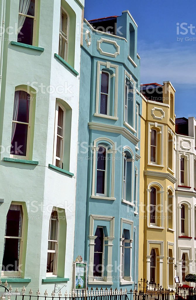 Houses and Hotels in Wales royalty-free stock photo