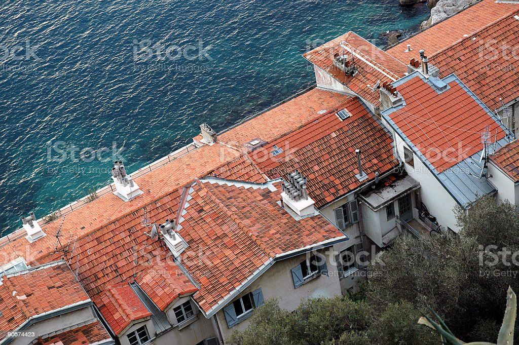 Houses and Sea royalty-free stock photo