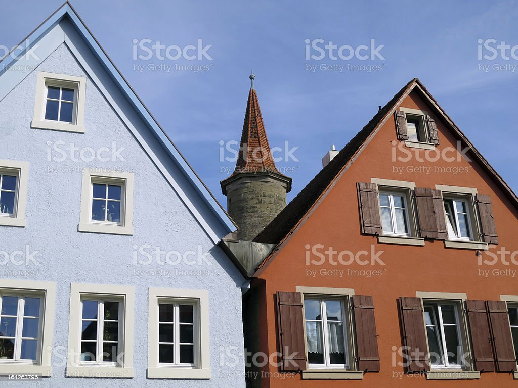 Houses and tower royalty-free stock photo
