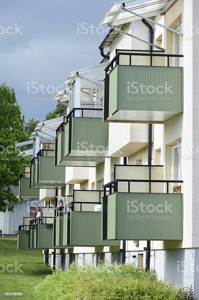 Houses / apartments with balconies royalty-free stock photo