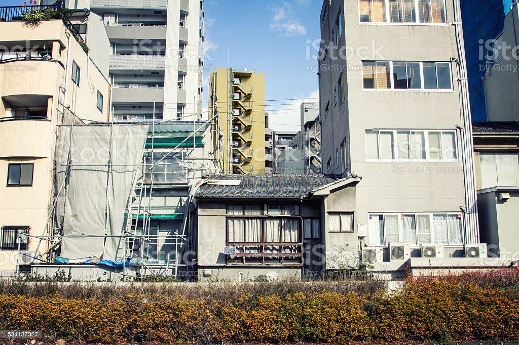 Houses at Osaka stock photo