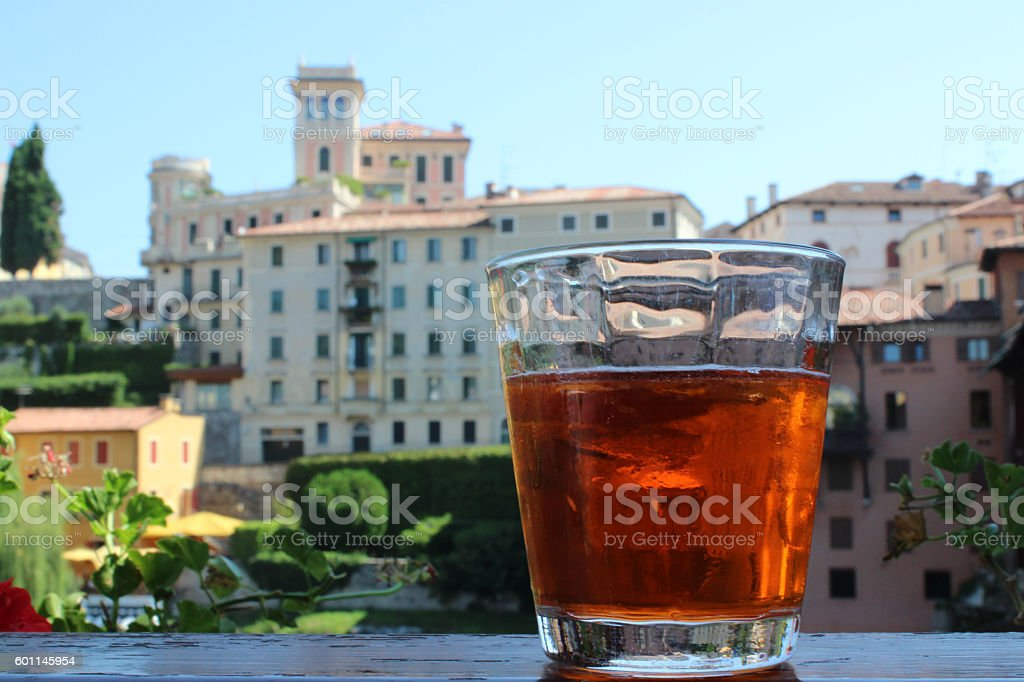 häuser bassano di grappa stock photo