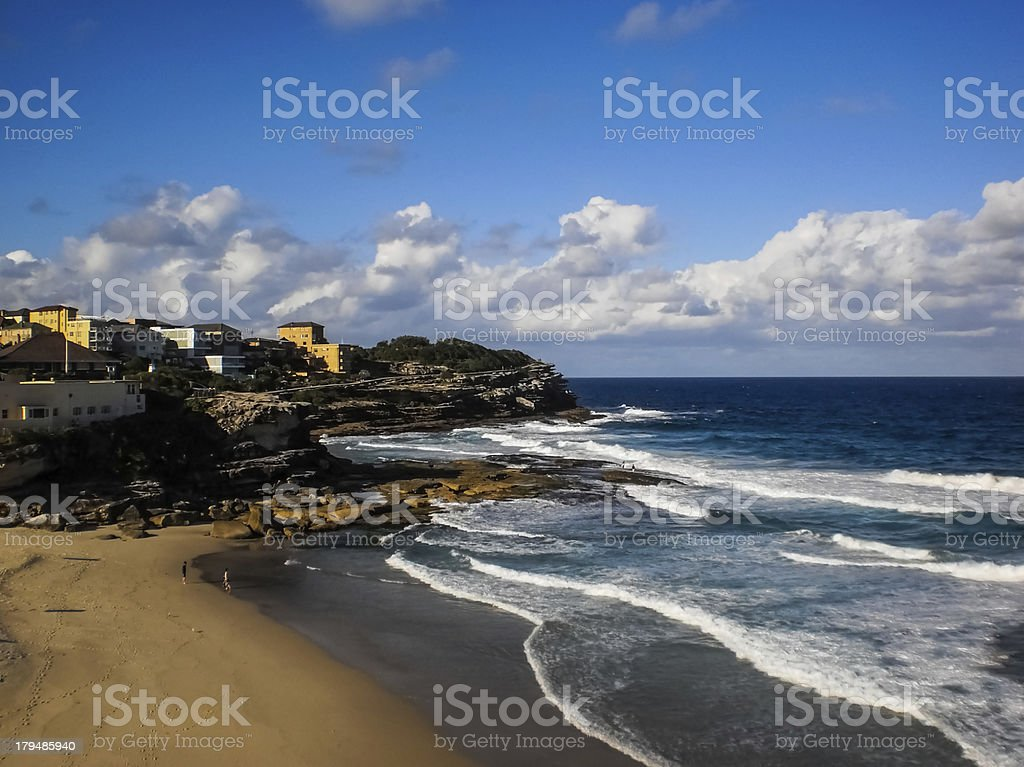 Houses beside the beach royalty-free stock photo