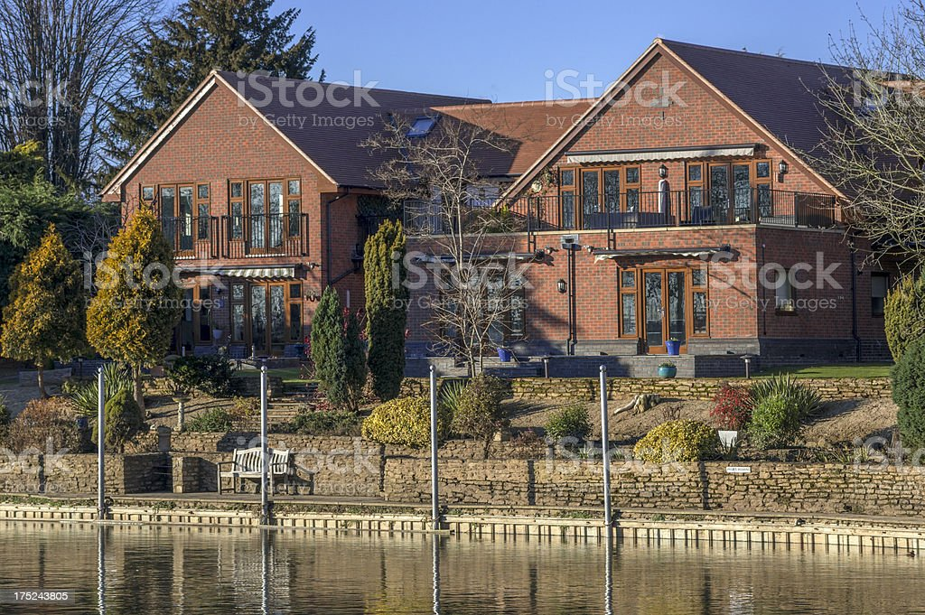 houses by canal royalty-free stock photo