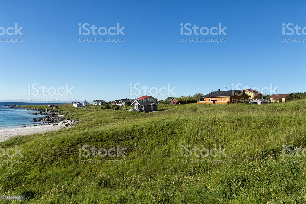 Houses close to the beach royalty-free stock photo