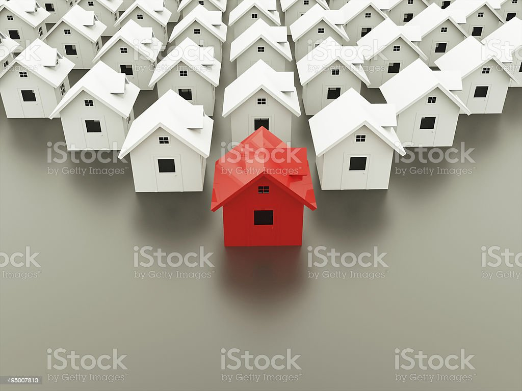 Houses concept stock photo