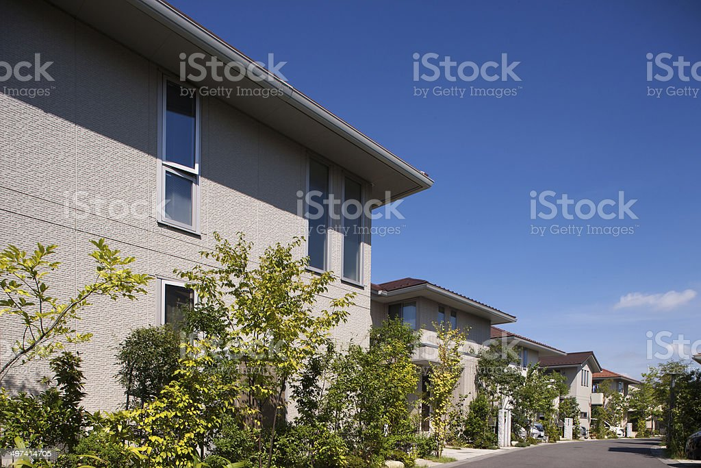 Houses emerging residential area stock photo